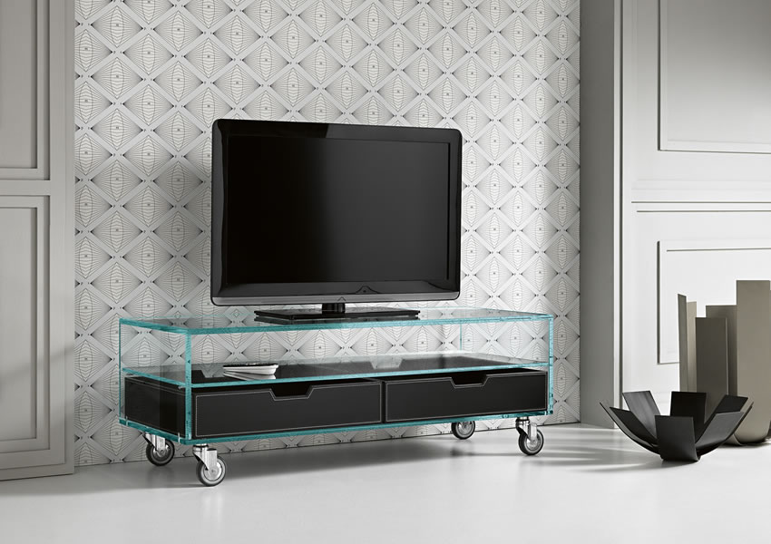 Glass tv stand designs