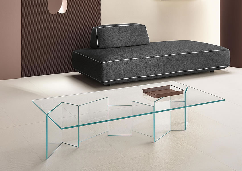 Glastisch design karim rashid tonelli  Glass design furniture and furnishings - Tonelli Design